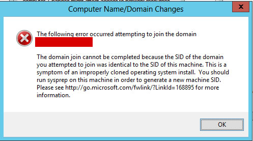 Domain can not join because SID is identical – Technology Blog